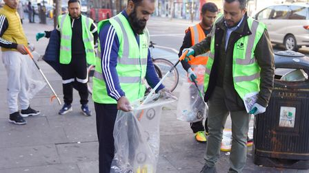 The last 'Big Clean Up' along the Whitechapel Road in March. Picture: Mohammed Khaled