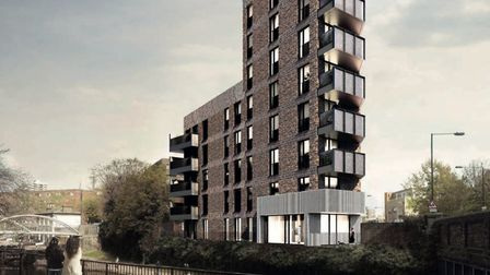 Rejected tower block now gets go-ahead for Limehouse Triangle by Tower Hamlets Council. Picture: LBT