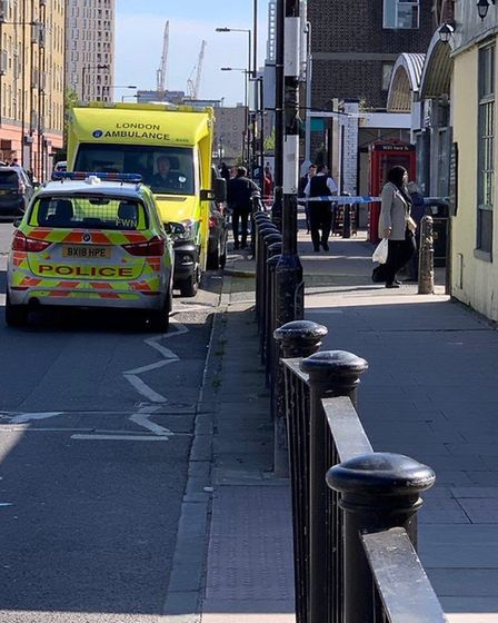 Officers are investigating the Poplar incident. Picture: @999London.