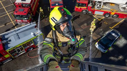 London Fire Brigate training... getting to grips with recruitment. Picture: LFB