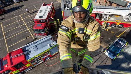 Reaching the heights to be a London firefighter in fresh recruitment drive. Picture: LFB