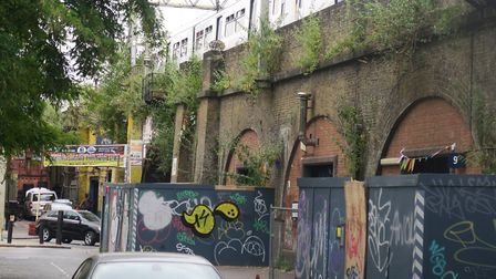 Some traders have given up with rocketting rents for railway arches, leaving them empty in Bethnal G