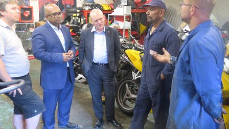 Mayor John Biggs on walkabout meeting railway arch traders in Bancroft Road. Picture: Mike Brooke