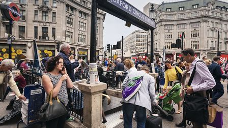 Jeroen's journey around the world starts at Oxford Circus. Picture: Jeroen Swolfs