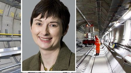 """London Assembly's transport chair Caroline Pidgeon... """"Crossrail is now in a mess of overspending, m"""
