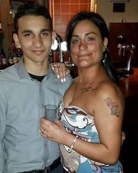 Socaine and his mum. Picture: AYSE DERVIS