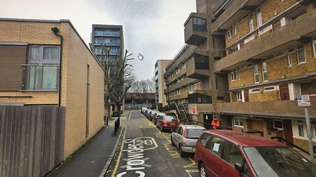 A woman was found dead in a flat in Crowder Street, Whitechapel, April 26. Picture: Google