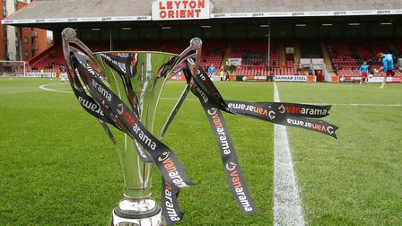 A general view of the National League Trophy at the Breyer Group Stadium (pic: Mark Kerton/PA Images