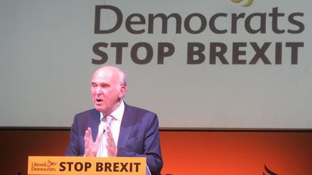 """Sir Vince Cable... """"We have to be part of Europe."""" Picture: Mike Brooke"""