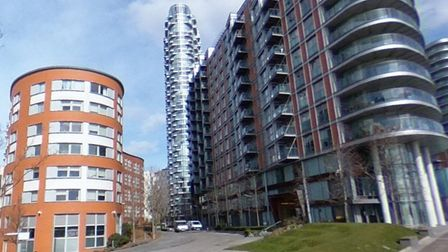 New Providence Wharf towers at Blackwall built with cladding. Picture: Google