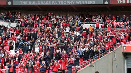 Leyton Orient fans applaud the players after the FA Trophy final against AFC Fylde at Wembley (pic: