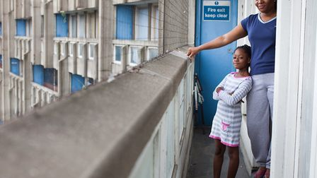 Del and Gaby... proud to live on Poplar's Robin Hood Gardens estate. Picture: Kois Miah