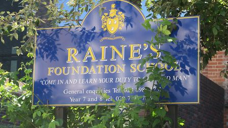 Raine's Foundation School facing closure after 300 years by Tower Hamlets Council. Picture: Mike Bro