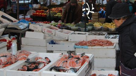 Fresh fish stall in Whitechapel Market... some families are missing out. Picture: Mike Brooke