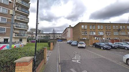 The injured man died at the scene in Alton Street, Poplar. Picture: Google