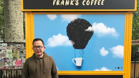 Frank Wang will resume serving coffee outside Bethnal Green station. Pic: The Young Foundation