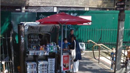 Frank's old stall outside Bethnal Green station. Picture: Google