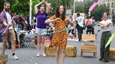 Hoola-hooping in St Paul's Way... you couldn't do that with the usual traffic. Picture Rehan Jamil