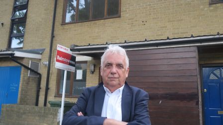 Andy outside house in Bow seized by courts from Rahman's assets that isn't worth enough to pay off