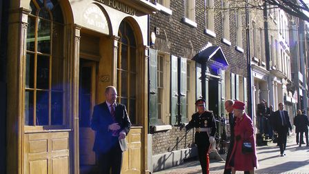The Queen arriving at Whitechapel bell foundry in 2009. Picture: Elsa Kvist