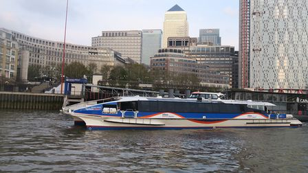 Alternative ferry idea at Canary Wharf instead of a bridge. Picture: Mike Brooke