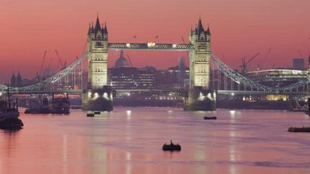 Tower Bridge at sunset. Picture: Mike Brooke