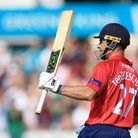 Essex's Ryan ten Doeschate celebrates a milestone (pic: Nigel French/PA Images).