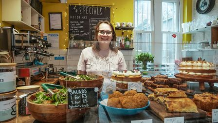 The cafe in Hanbury Street, Spitalfields has a vegan menu. Picture: Ruth Rogers