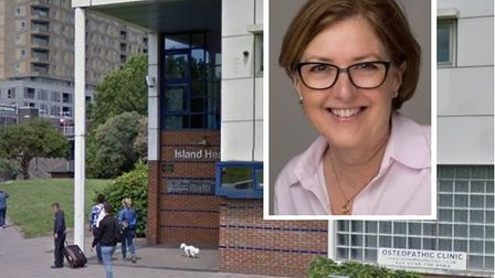 Interim managers have been appointed after Suzanne Goodband quit as chairwoman of Island Health Trus