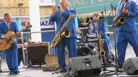 King Pleasure and the Biscuit Boys... taking the biscuit performing at Chrisp Street Market. Picture