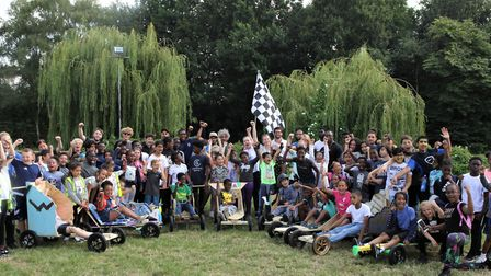 What a fun day at Mudchute Farm's go-kart grand prix for nine cometing teams from all over London. P