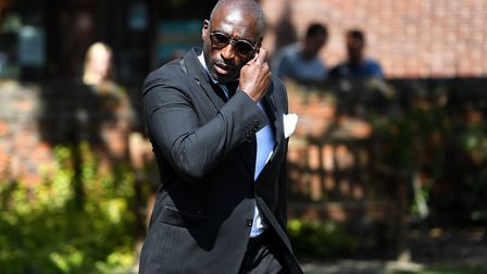 Macclesfield Town manager Sol Campbell during the memorial service for Justin Edinburgh at Chelmsfor