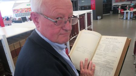 Wynne Weston-Davies at the London Met Archives researching Jack the Ripper's killings. Picture: Mike
