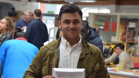 Bishop Challoner pupil Hakimul Islam achieved four A* grades. Picture: James Johnston