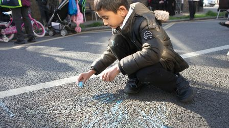 Playing safe... children let cloose in Tower Hamlets Council's proposed new 'school' streets where t