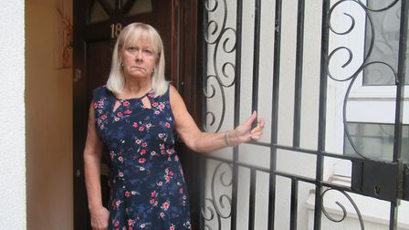 Valerie Hutchins, 66, and her neighbour at St Clair House were both taken to court by Eastend Homes