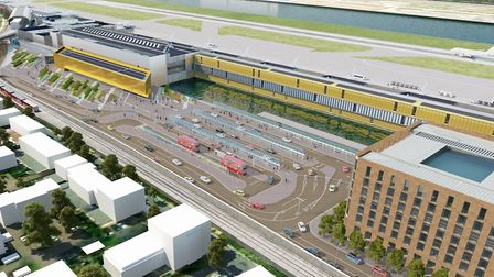 Plans for expanding London City Airport including a new terminal. Picture: City Airport