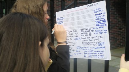 Pupils who started their own petition to stop Raine's church school being closed down. Picture: Mike