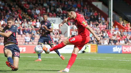 Leyton Orient's Conor Wilkinson has an effort in the first half against Stevenage (pic: Simon O'Conn