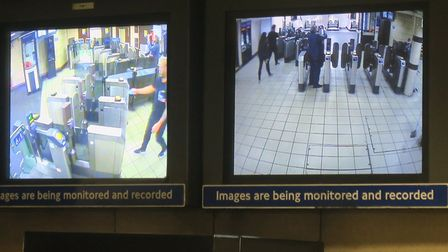 Station monitor cameras on the Central line. Picture: Mike Brooke
