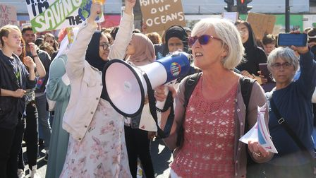 One of the Tower Hamlets NHS GPs, Dr Jackie Appleby, who addressed the Whitechapel rally warning of