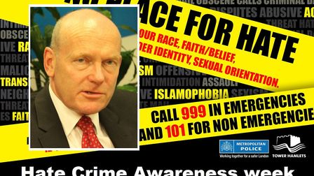 Mayor John Biggs urging neighbours to speak out against prejudice. Pictures: Mike Brooke (inset) and