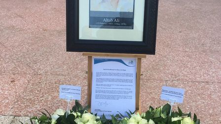 Memorial to Altab Ali, 1964-78, in the park that now bears his name. Picture: LBTH