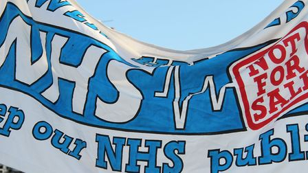 GPs planning protest in east London against speeding up privatisation of NHS practices. Picture: M