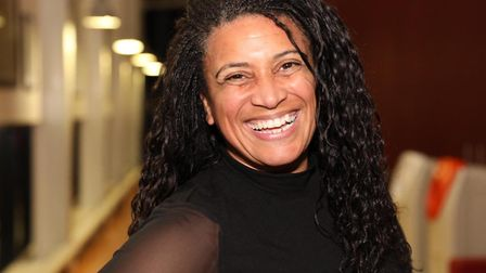 TV's Jaz Ampaw-Farr presents Virtual School awards for youngsters in Tower Hamlets care. Picture: LB