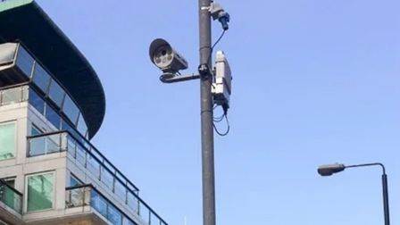 The camera on a pole ready to snap number plates to dish out �130 automatic fines. Picture: Andrew W