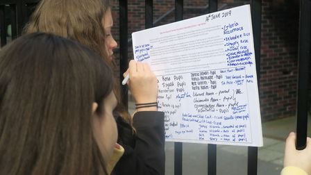 Pupils desperate to save Raine's Foundation started their own petition in the summer. Picture: Mike