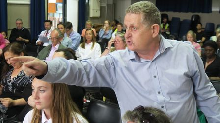 Angry parents accusing Tower Hamlets Council at a public meeting in the summer of 'sabotaging' Raine