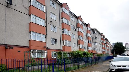 Oban House in E14, which is classed as among the 10pc most deprived areas in England. Picture: Polly