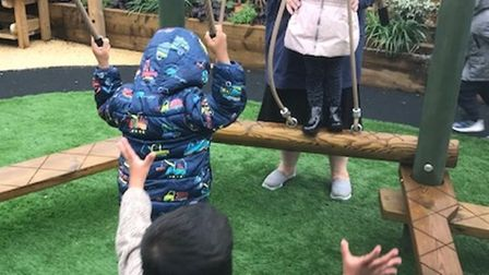More room for children to play as Manorfield School expanding its nursery places. Picture: Paul Jack